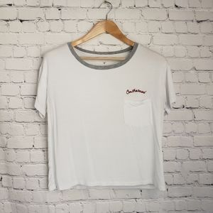 American Eagle Soft & Sexy Tee Oversized Cropped